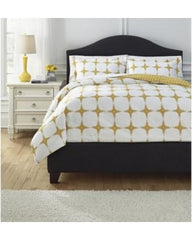 Signature Collection Cyrun Yellow 3 Piece Bedding Set