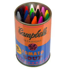 Warhol's Campbell Soup Can Crayons