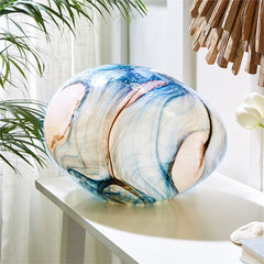 Free Form Blue Watercolors  Large Lamp