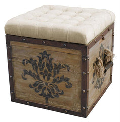 Rustic Crate Blue Ottoman