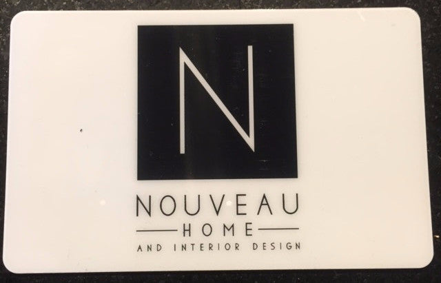 Nouveau Home & Interior Design Gift Cards