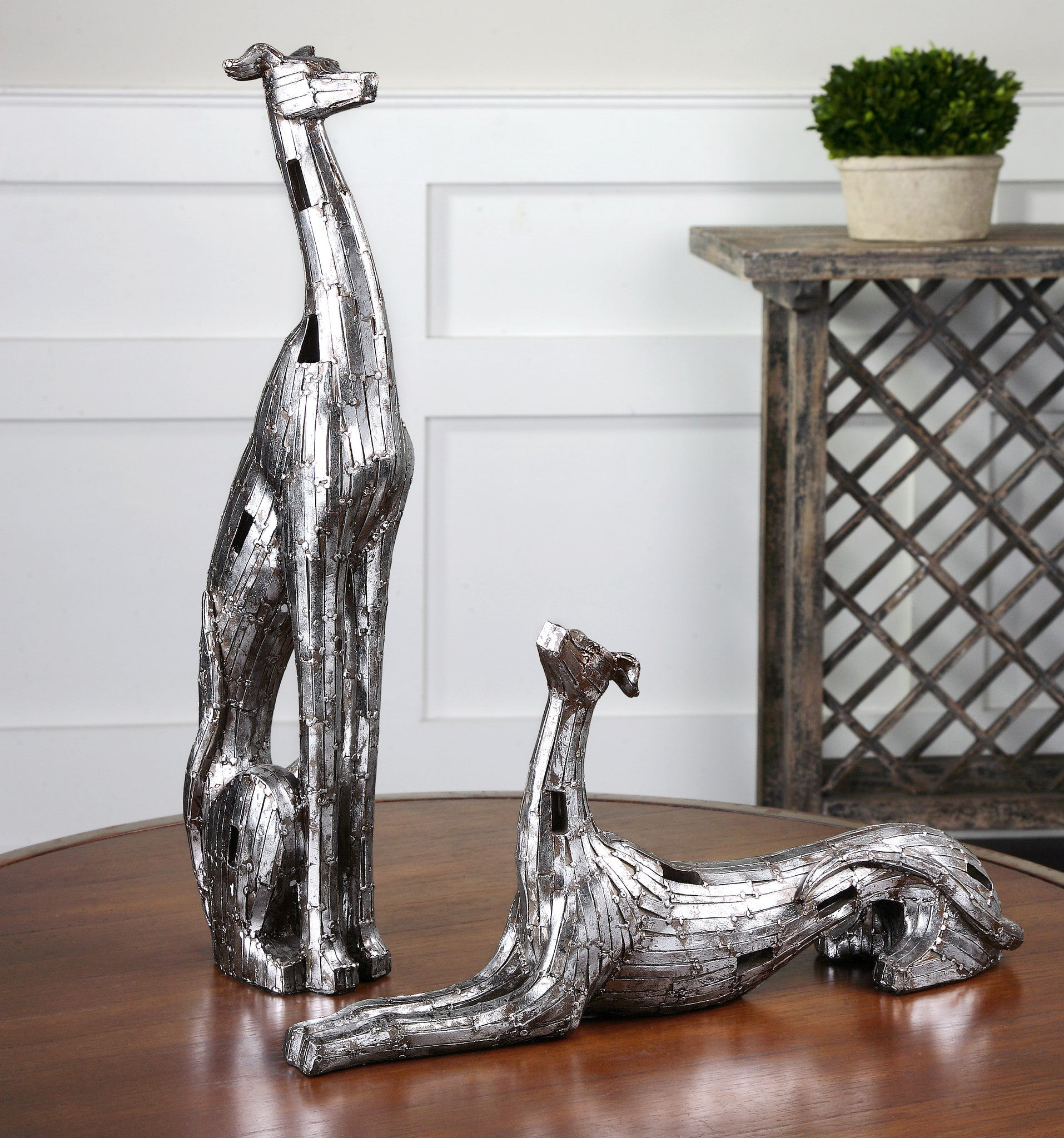 Greyhound Statues Set of 2