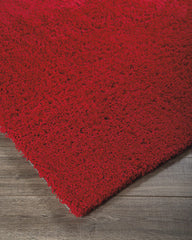 """Cherry Red"" Alonso Shag Rug"