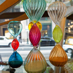 Color Spectrum Sand Timers as Home Decor