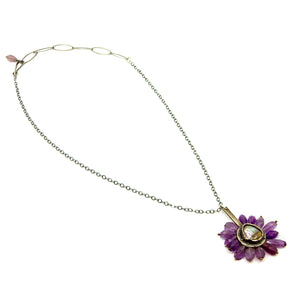 Abalone Center Amethyst Necklace