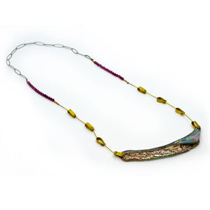 Abalone Lip Ruby Necklace