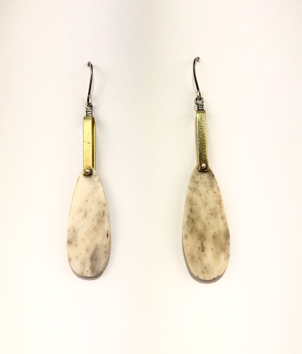 antler brass earrings