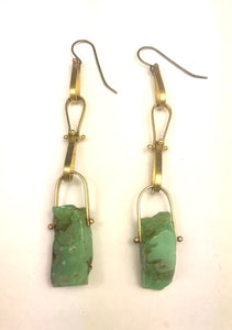 brass raw chrysoprase