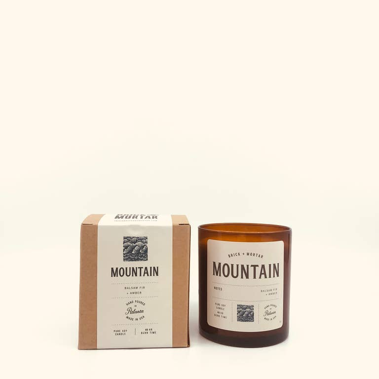 Mountain Scented Candle. Brick + Mortar