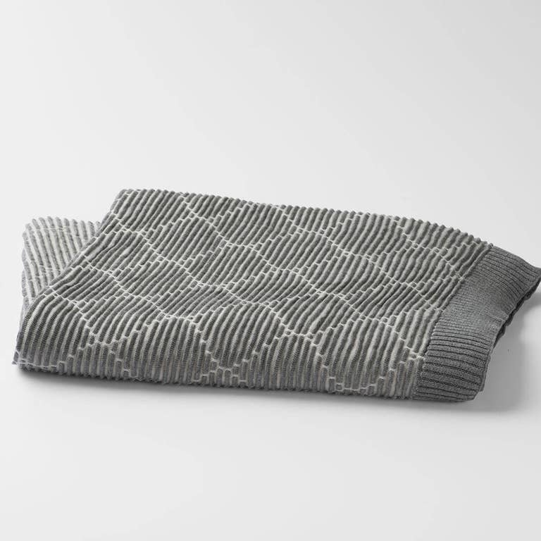 100% Organic Ogee Knitted Throw Blanket