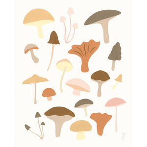 Mushrooms Print