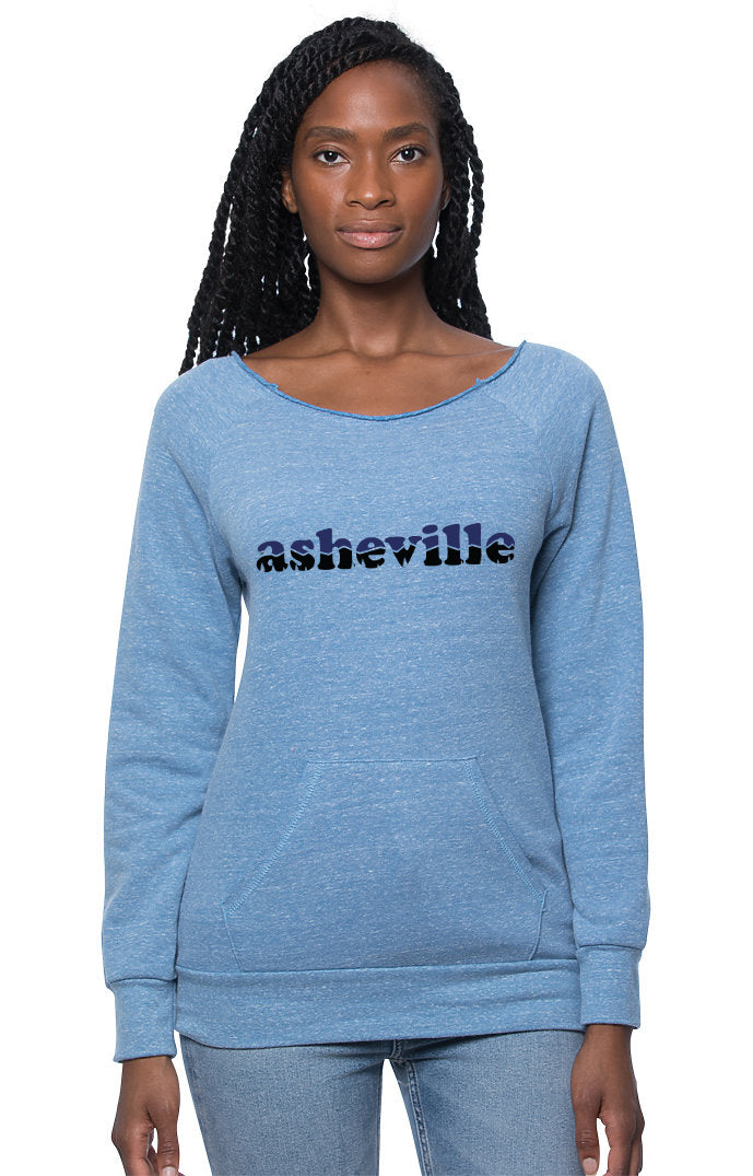 Asheville Retro Sunset Relaxed Scoop Yoga Sweatshirt