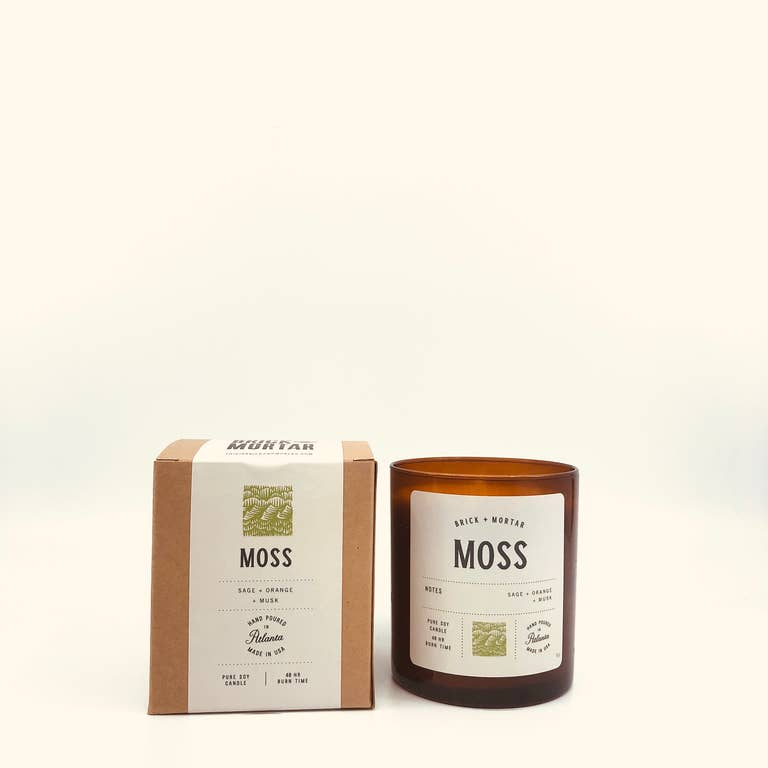 Moss Scented Candle. Brick + Mortar