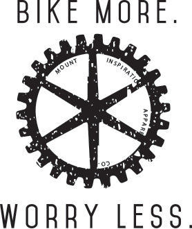 Bike More Worry Less. Sticker