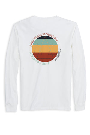 Find Your Mountain. Climb It. Find Yourself. Long Sleeve (100% Organic Cotton)