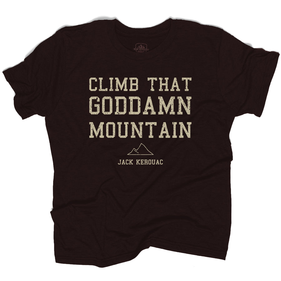 Climb that Goddamn Mountain - Jack Kerouac (ECO Triblend)