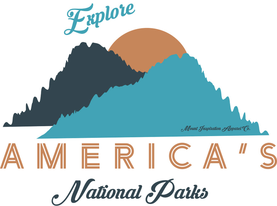 Explore National Parks. Sticker