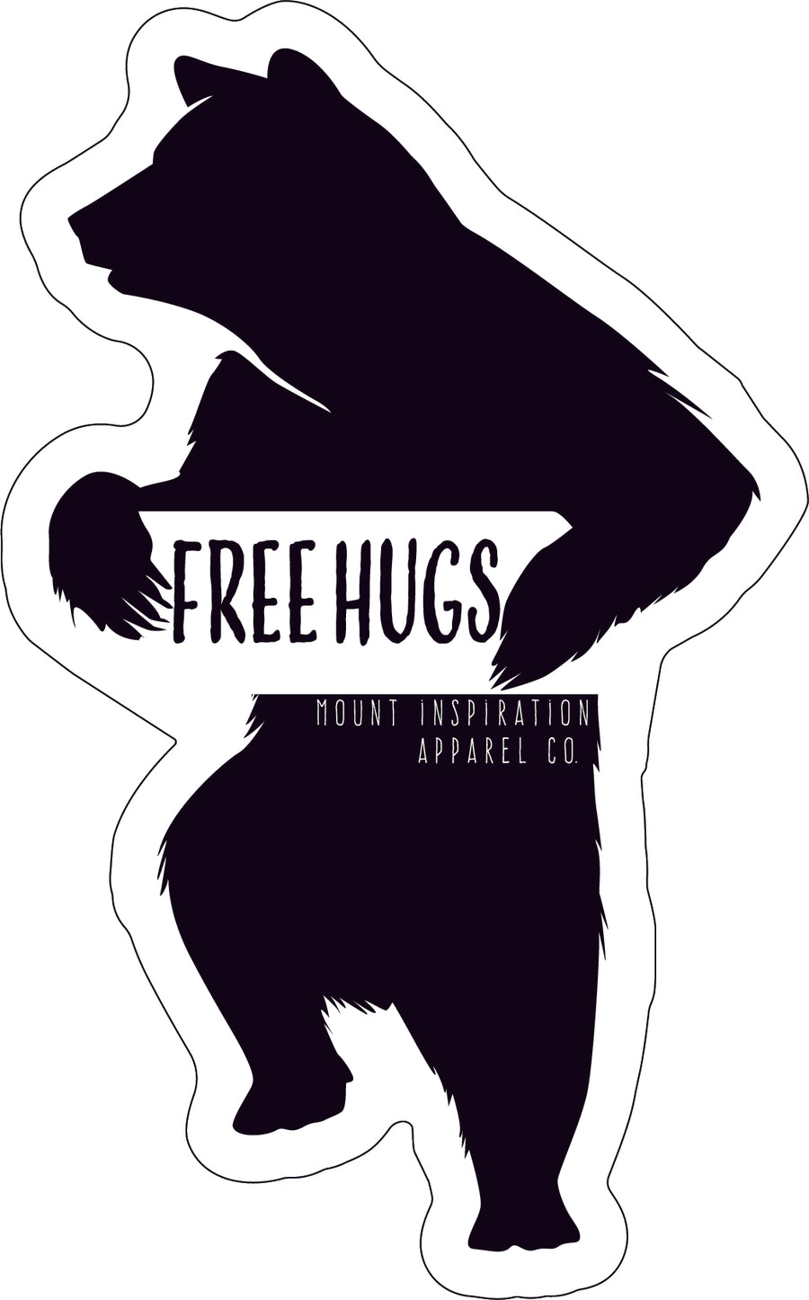 Free (Bear) Hugs Sticker