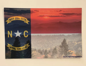 North Carolina State Flag, Blue Ridge Background Sticker