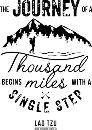 Journey of A Thousand Miles. Sticker