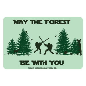 May the Forest Be With You Classic Edition Sticker