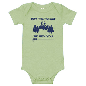 May the Forest Be With You Infant One Piece (100% Organic Cotton)