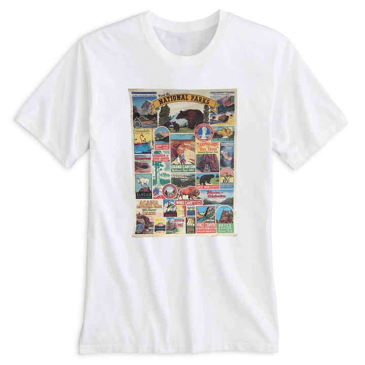 National Parks Retro Poster. 100% Organic Cotton Tee