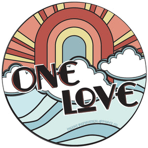 One Love Sticker