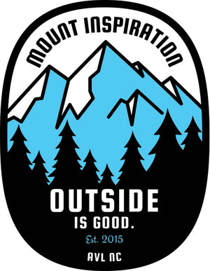 Outside is Good. Sticker