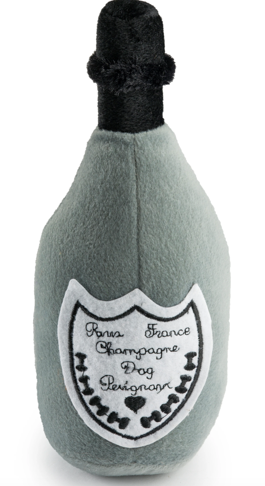 Dog Perignonn Champagne Plush Dog Toy
