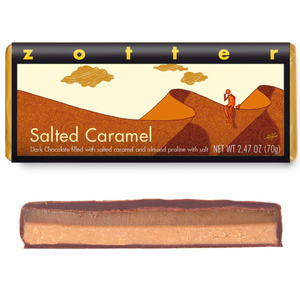 Salted Carmel. Zotter Chocolate Bar