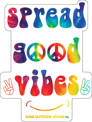 Spread Good Vibes Retro Tie Dye Sticker