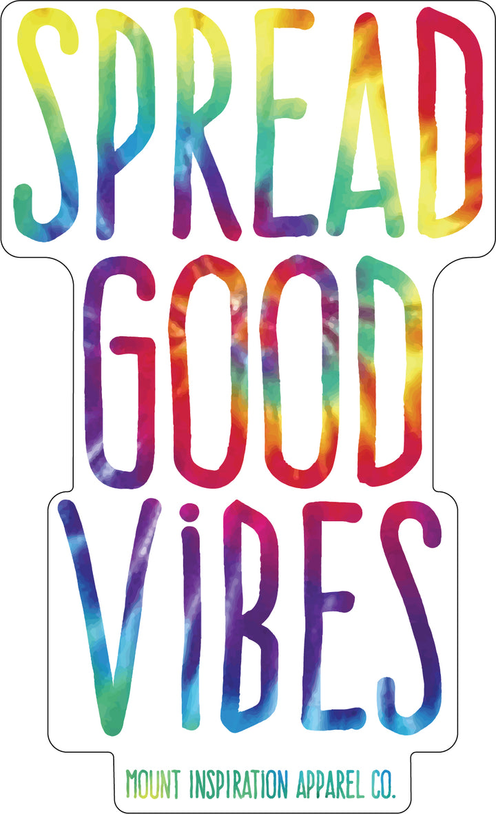 Spread Good Vibes Classic Tie Dye Sticker