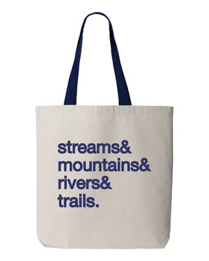Streams&Mountains&Rivers&Trails Tote