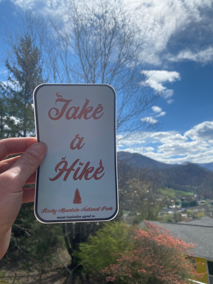 Take a Hike Rocky Mountain National Park Sticker