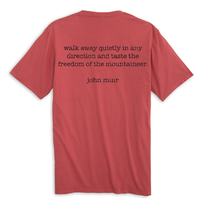Walk Away Quietly in any Direction and Taste the Freedom of the Mountaineer. Short Sleeve  100% Organic Cotton Tee