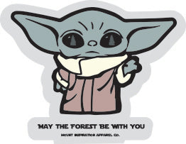 "May the Forest Be With You ""Baby Yoda"" Die Cut Edition Sticker"