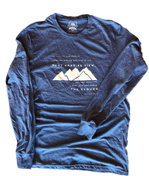 Long Sleeve May Your Trails Be Crooked... Edward Abbey (ECO Triblend)