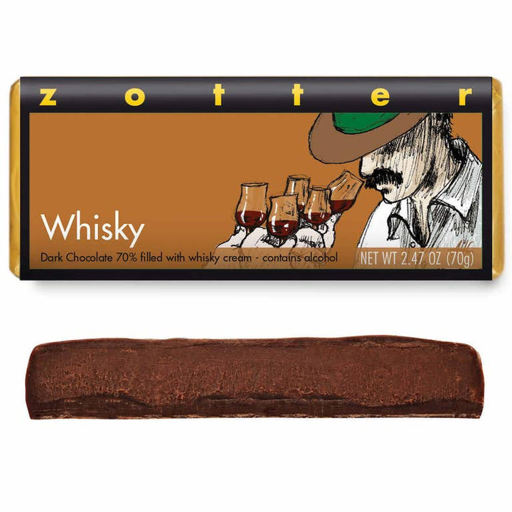 Whisky. Zotter Chocolate Bar