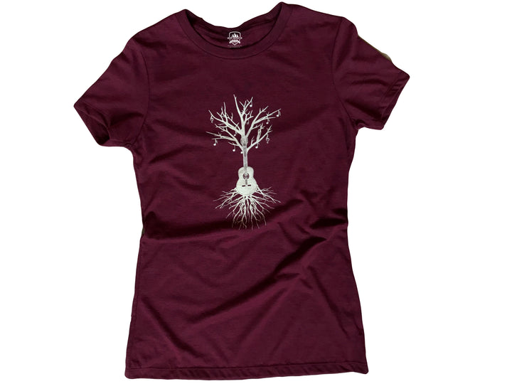 Guitar Tree Ladies' Tee Recycled Water Bottle/Organic Cotton Blend