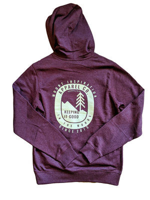 Mount Inspiration Keeping it Good in the Woods Logo -  Hooded Sweatshirt