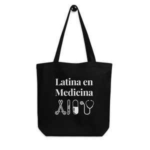 Latina en Medicina Black Tote Bag