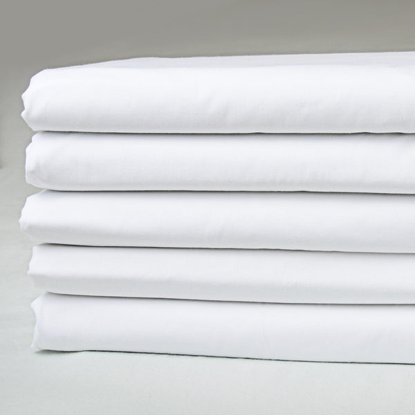 Hospitality Supreme Percale Bed Sheets ~ 250 TC 50% Cotton / 50% Polyester