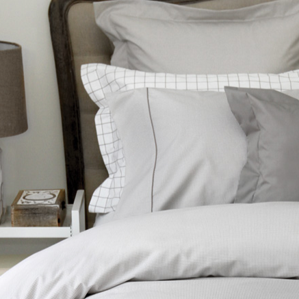 Taylor Taupe Percale Print Cuddle Down Bed Linens
