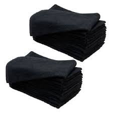 Black Salon Towels (dozen)