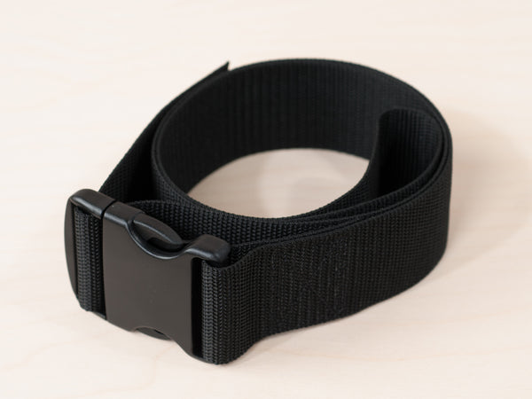 Waist belt for the Schroth method of scoliosis therapy.