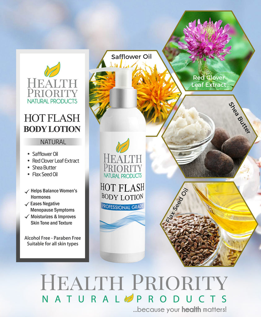 Natural & Organic Menopause & Hot Flash Body Lotion