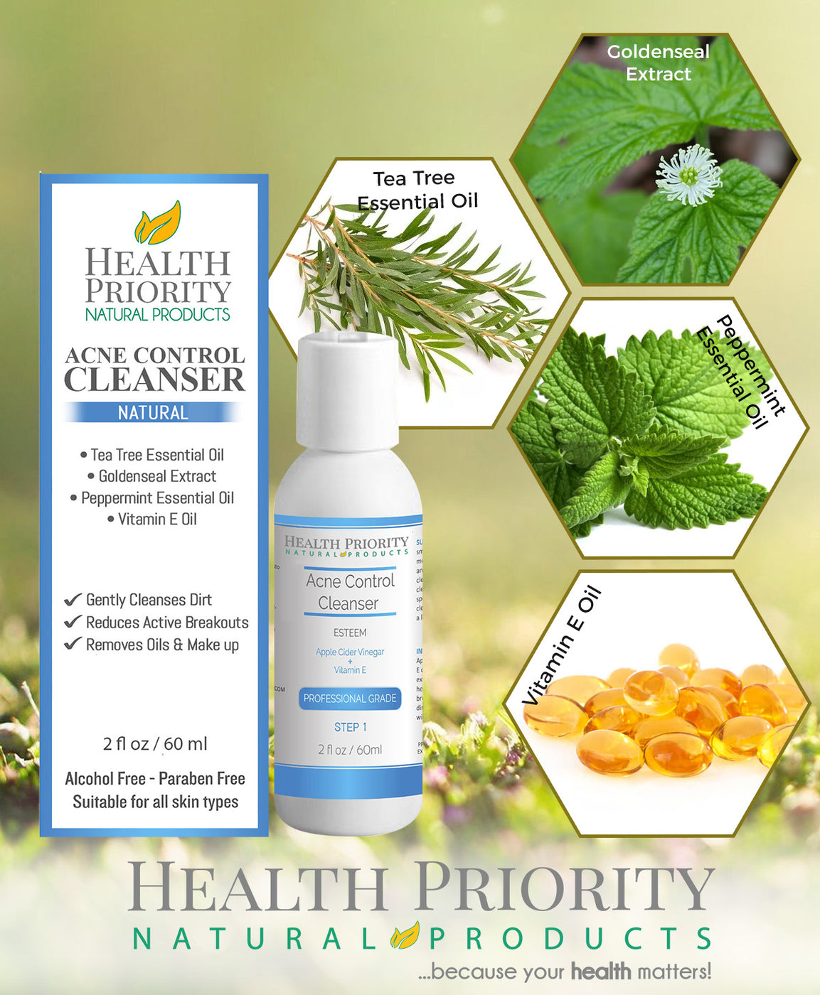 Natural & Organic Proactive Acne Cleanser
