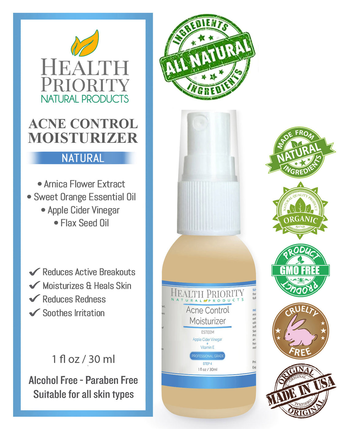 Natural & Organic Proactive Acne Moisturizer