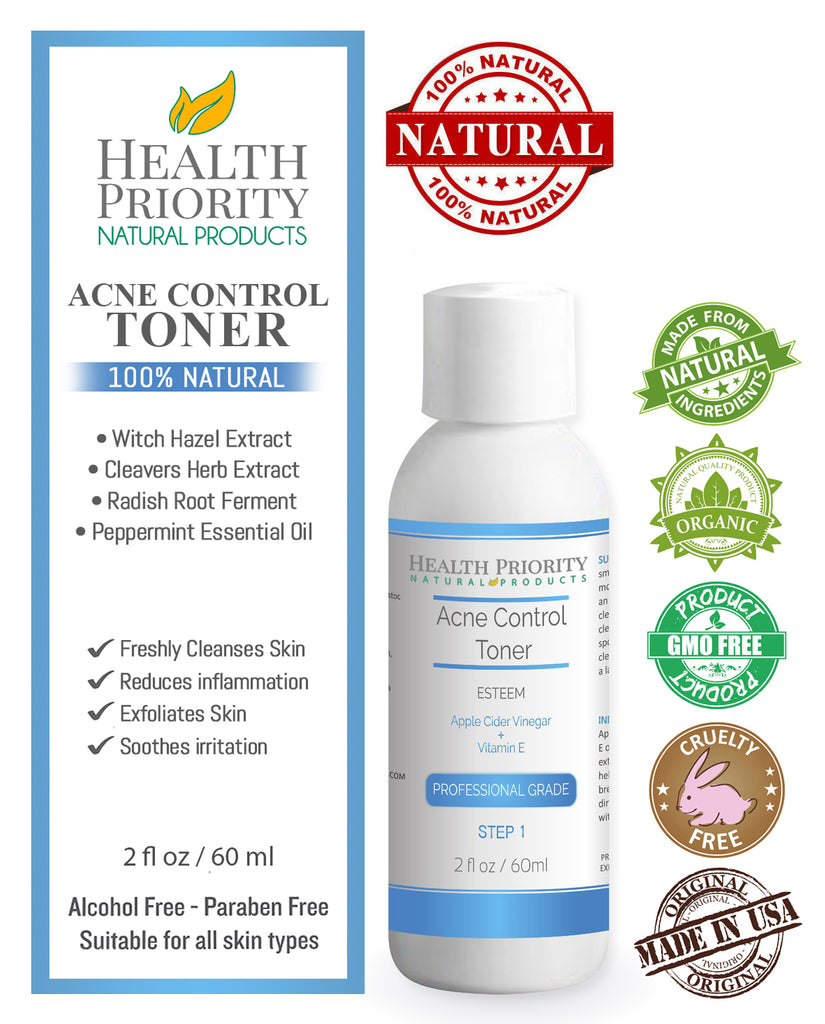 100% Natural & Organic Proactive Acne Toner